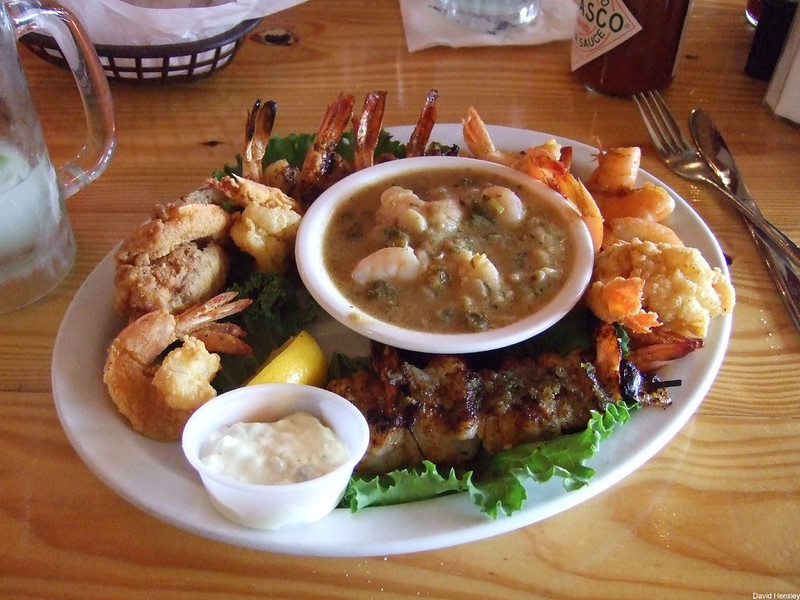 Shrimp Frenzy, Stingaree Marina Restaurant, Crystal Beach, TX