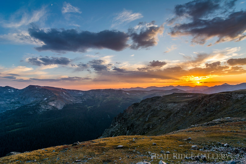 A spectacular sunset on Trail Ridge Road.
