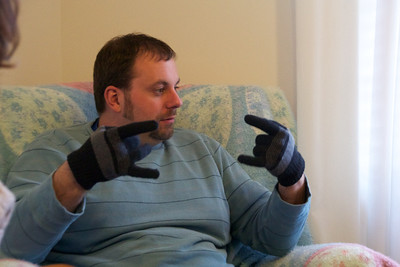 Thinkin Ben is serious about these gloves!!!!