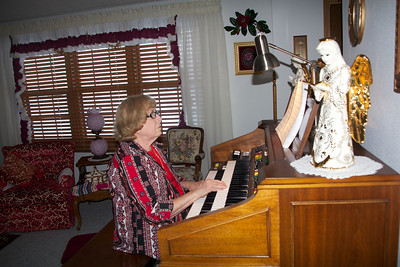 My Mom loves playing her organ.