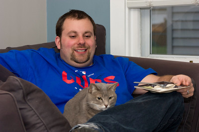 Ben and his cat - Heino May 2, 2009