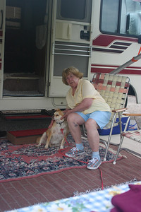 My Mom and Bobby (He is gone now). Summer, 08 in Ashland, WI