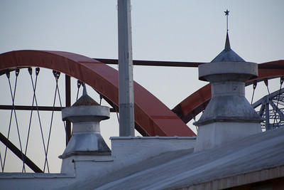 The copulas on top of the Hudson Building keeping watch over the bridges.  10.2.12