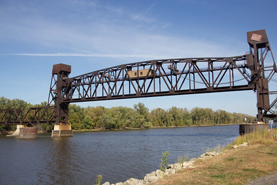 """I heard that when this railroad bridge was built and as they were adding the span in, it got """"dropped"""" into the river and they had to pull it out.  Good thing that did not happen with the new bridge span!!"""