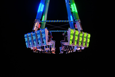 Funfair ride at Schueberfouer in Luxembourg