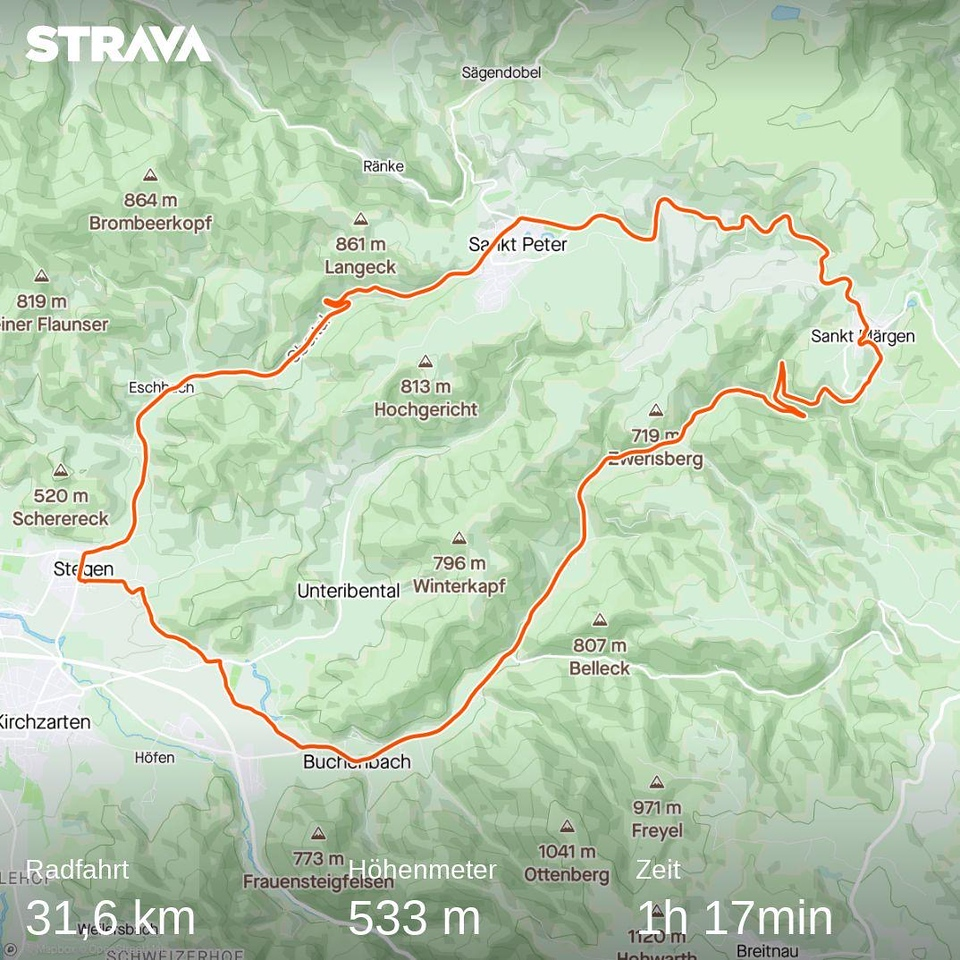 Strava map of ride on 2020_08_18