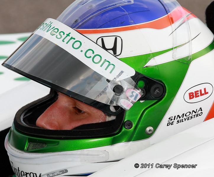 Up Close Simona de Silvestro Honda Indy Grand Prix of Alabama