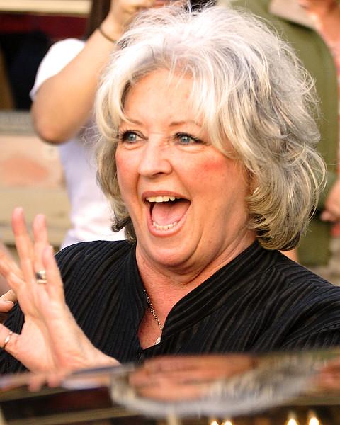 Paula Deen big smile and hello.