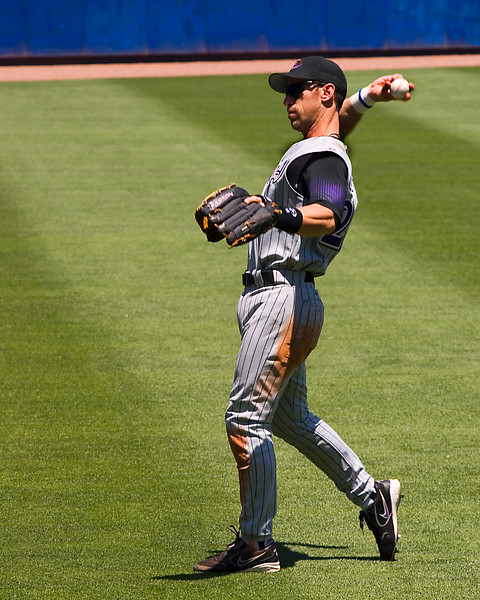 "Luis Emilio Gonzalez ""Gonzo"" playing left field"