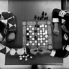 Palestinian students play chess at the Damascus Training Center, 2008.