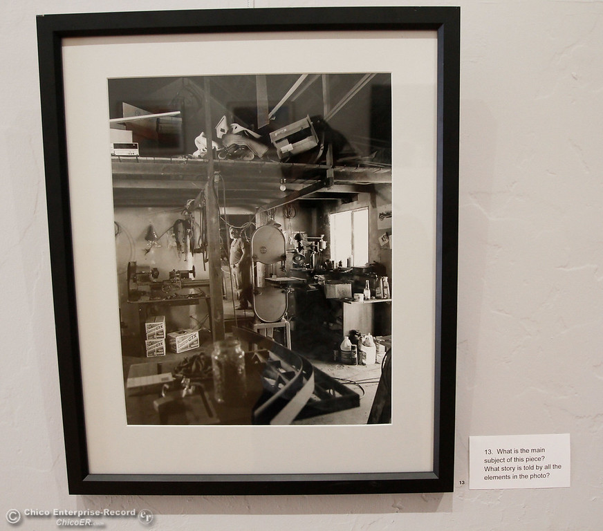 . A silver gelatin photography by Michelle Davis Lowell Jones, 1996 hangs in the Honoring Woman gallery at the new Museum of Northern California Art Wednesday July 26, 2017 in Chico, California. (Emily Bertolino -- Enterprise-Record)