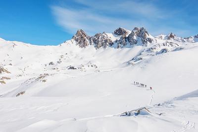 Mont Thabor met links (onze) Passage du Pic du Thabor