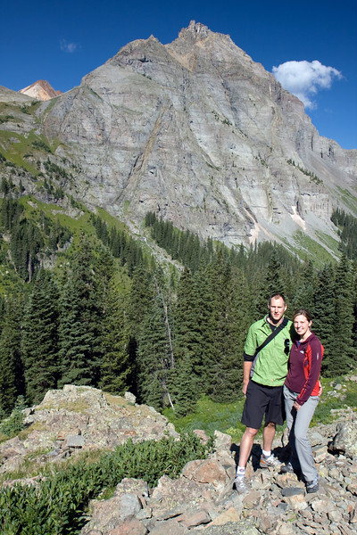 Andrew and Sarah along the trail to Blue Lake Pass