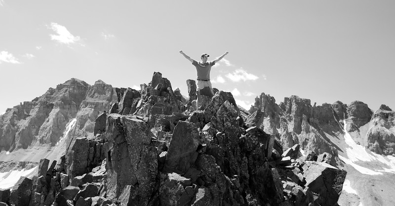Me at the top of Blue Lakes Pass