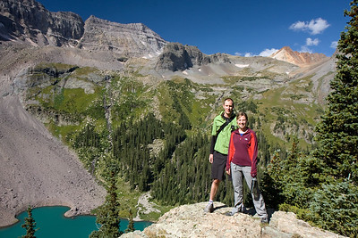 Andrew and Sarah above Lower Blue Lake.
