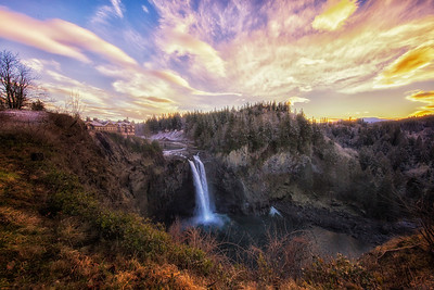 January Snoqualmie Falls
