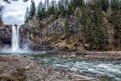 February Snoqualmie Falls