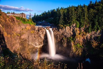 Snoqualmie Falls Summer Rainbow