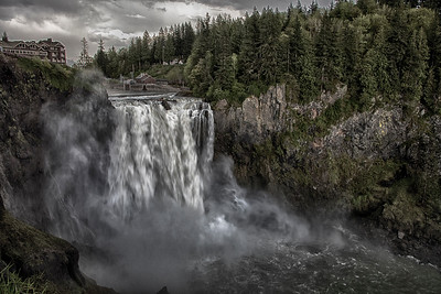 Snoqualmie Falls Stormy Spring Day