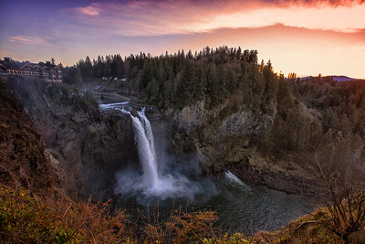 Snoqualmie Falls December Sunset