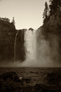 Snoqualmie Falls January High Flow Antique Effect Portrait