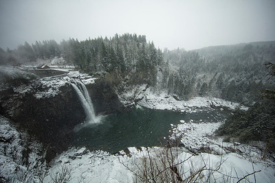 Snoqualmie Falls Christmas Day Snowstorm 2017