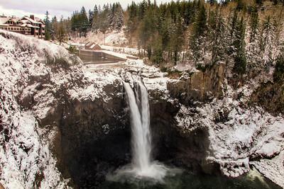 December Snoqualmie Falls