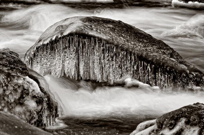 Frozen Snoqualmie River