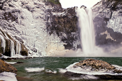 Winter at Snoqualmie Falls, Snoqualmie, WA