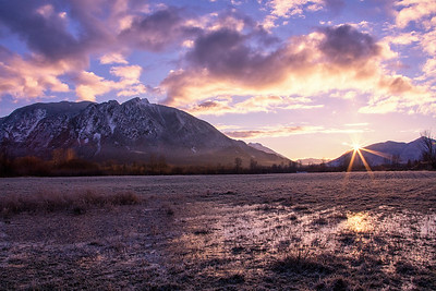 Meadowbrook Farm Sunrise Icy Morning Mt Si