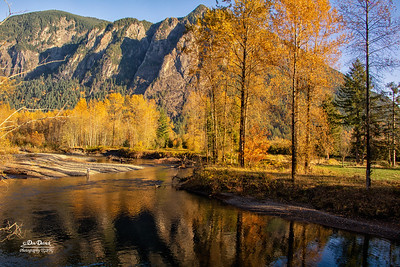 North Fork Reflection Fall Mt Si Fisherman