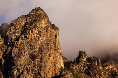 Mount Si Peak Shrouded in Clouds