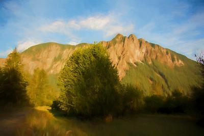 Mt Si Golden Hour Monet Impression