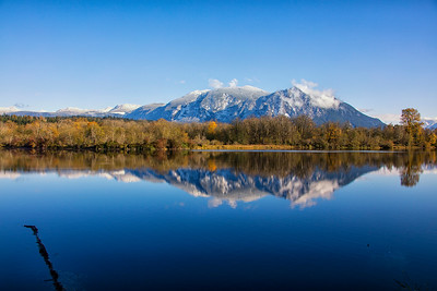 Borst Lake Reflecting Snowy Mt Si