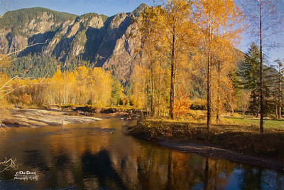 North Fork Reflection Fall Mt Si Fisherman Monet Impression