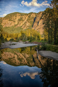 Mt Si Golden Hour Reflection North Fork Portrait