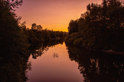 Snoqualmie River Summer Sunset