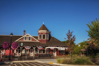 Snoqualmie Depot Early Summer Morning