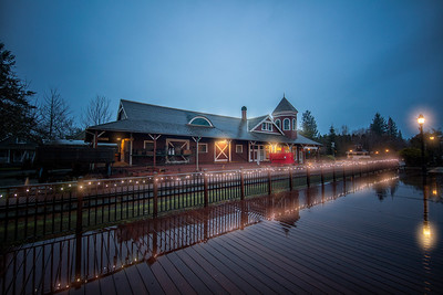Snoqualmie Train Depot Early Morning Winter Light