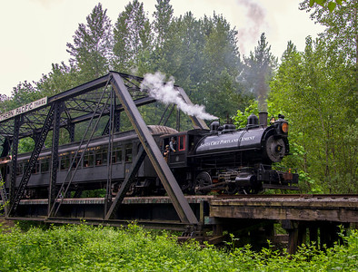 Steam Train Crossing The Trestle 2