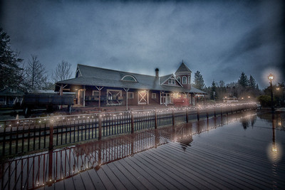 Snoqualmie Train Depot Early Morning Winter Light HDR