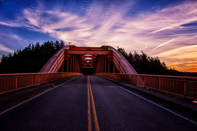 Orange Bridge Sunset