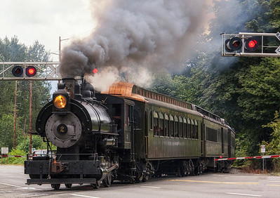 Steam Engine With Black Smoke