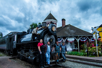 Northwest Railway Museum Steam Engine Crew 5-25-15
