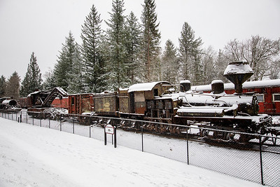 Ancient Trains Christmas Day Snow 2017
