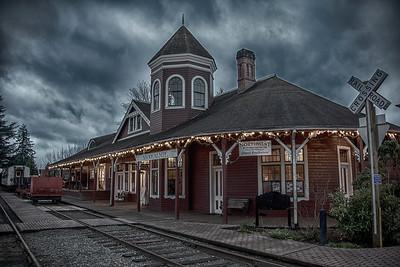 Snoqualmie Depot HDR Christmas Closeup