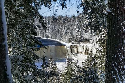 closer view of Tahquamenon Falls