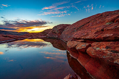 Sunrise Reflections in Snow Canyon State Park
