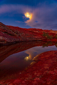 Full Moon Reflected in Snow Canyon State Park