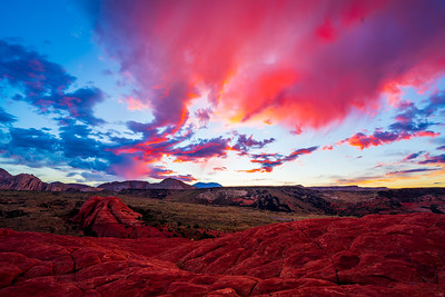 Snow Canyon Sunrise from the Petrified Sand Dunes